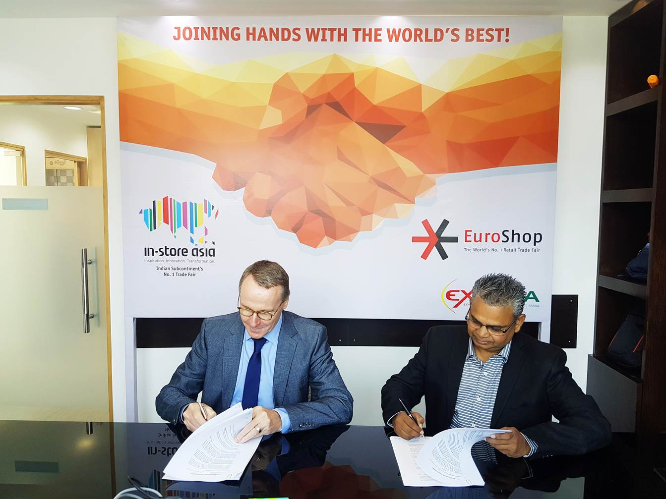 Messe Düsseldorf, EuroShop, In-store Asia, Thought Shows & Events Pvt Ltd., Mall of Europe powered by EuroShop, Vasant Jante, Hans Werner Reinhard