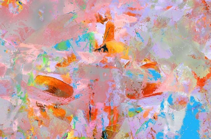 abstrakt ineinander verlaufende Farben