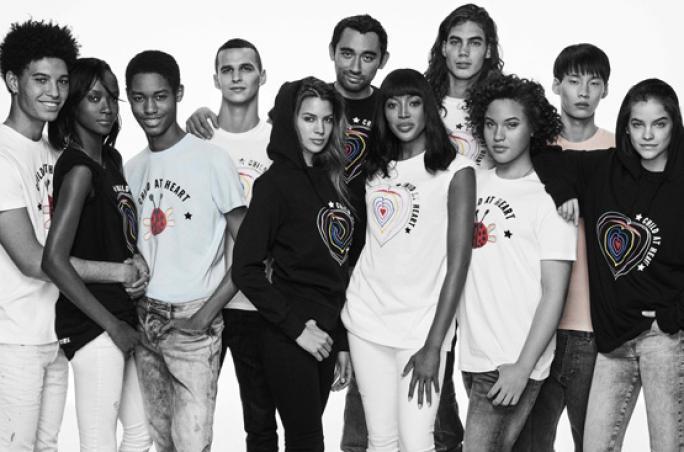 Diesel und Naomi Campbell unterstützen Flüchtlingskinder
