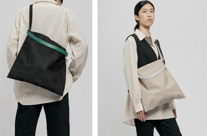 PB 0110 launcht Messenger Bag aus Leinen