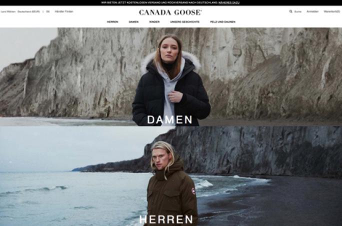 Canada Goose startet deutschen Online-Shop