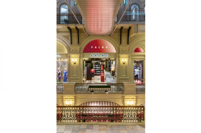 Falke eröffnet Store in Moskau