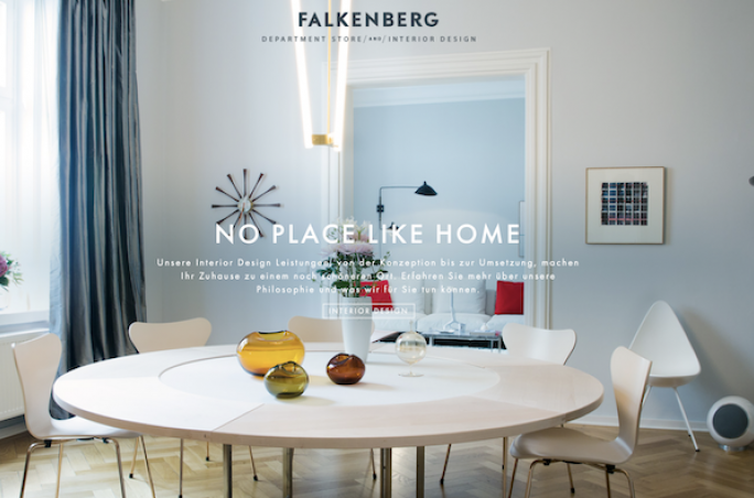 Screenshot der Falkenberg Homepage
