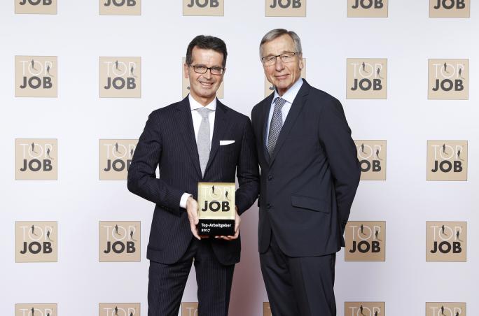 Hirmer, München, Top Job-Siegel, Zeag GmbH, Mitarbeiterbefragung, Bewertung, Verleihung, Arbeitgeber, Frank Troch, Wolfgang Clement