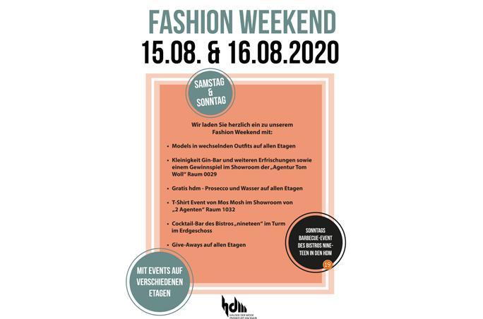 Häuser der Mode laden zum Fashion Weekend ein