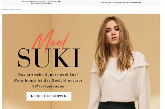 new look launcht online shop in deutschland. Black Bedroom Furniture Sets. Home Design Ideas