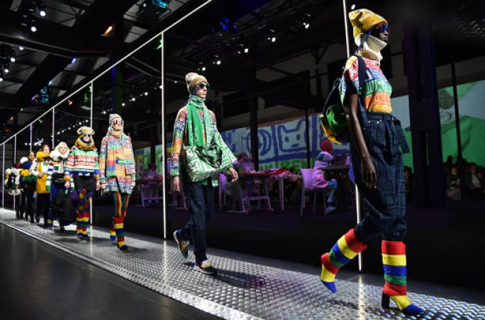 Benetton: Erste Fashion Show in Mailand