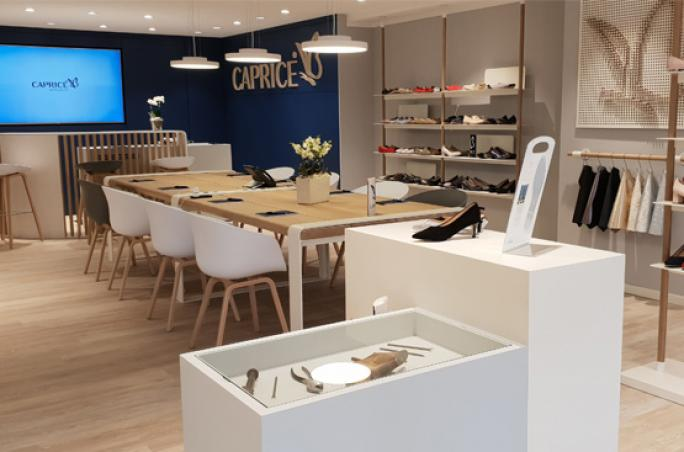 Caprice mit neuem Showroom Konzept