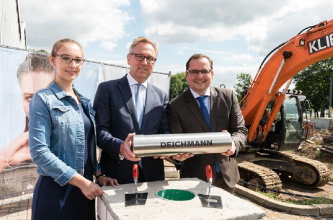 Deichmann legt Grundstein für Erweiterung der Firmenzentrale