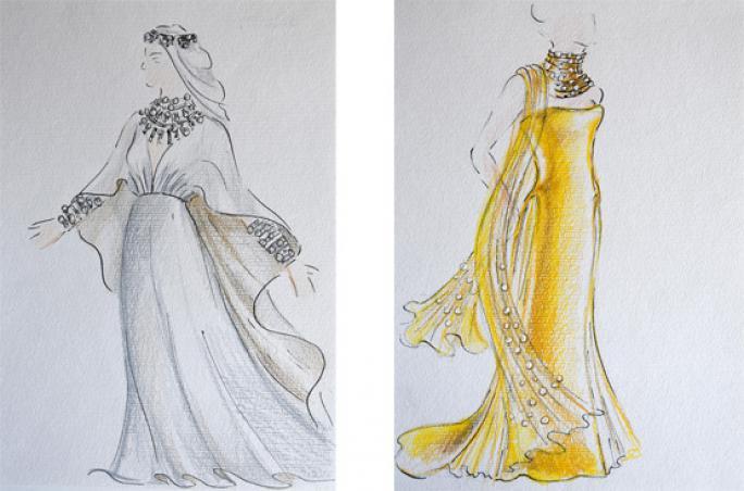 Swarovski, Kristall, Kostüm, Aida, Verdi, Salzburger Festspiele