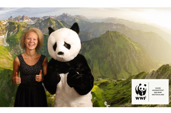 Vaude startet Kampagne mit dem WWF-Pandabär