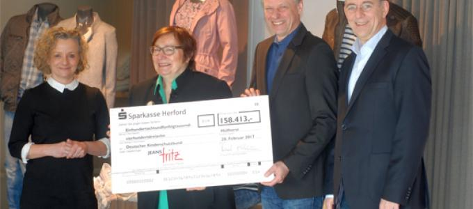 Jeans Fritz hat Spendierhosen an